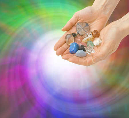 Crystal Healer and Energy Vortex Stock Photo