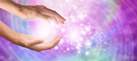 energy healing: Angelic Healing Energy Website Banner Stock Photo