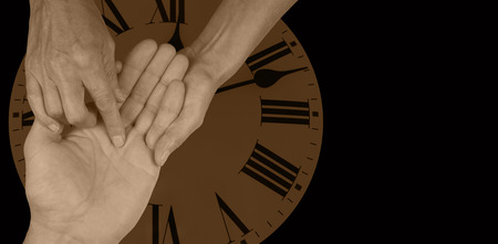 Time Will Tell Palmistry Website Banner Stock Photo - 29869122