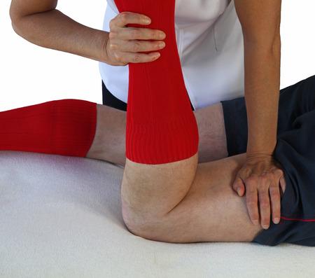 masaje deportivo: Técnica neuromuscular aplica a tendones de la corva