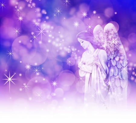 ange gardien: Belle Ange de No�l Banque d'images