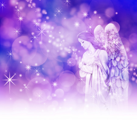ange gardien: Belle Ange de Noël Banque d'images