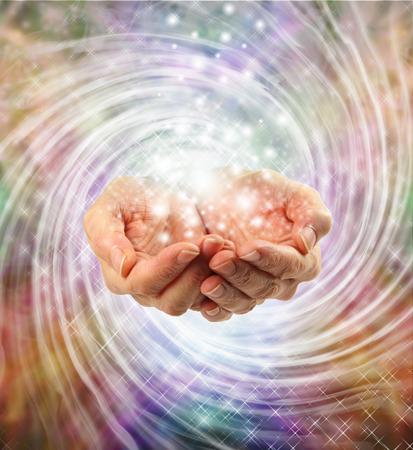 Magical healing energy photo