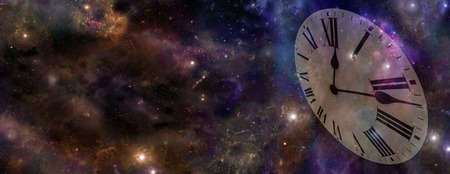 Space and Time Banner    Foto de archivo