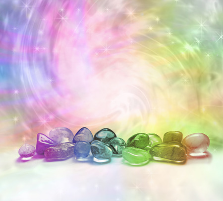 Cosmic Healing Crystals  Stockfoto