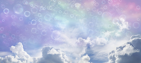 cirrostratus: Fantasy Wide Blue Sky and Bubbles