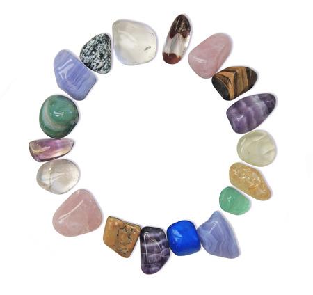 Circle of healing crystals photo