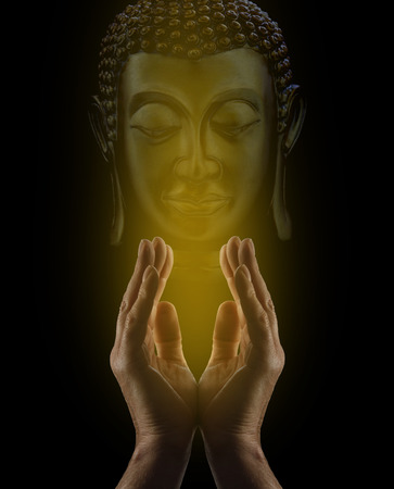 energy channels: Praying to Buddha