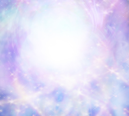Sparkly wispy pink light burst background Stock Photo