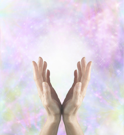 Gentle Healing Energy Stock Photo