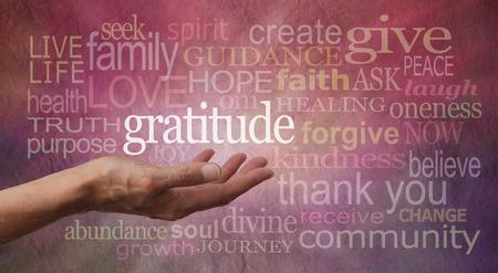 感謝の態度 写真素材