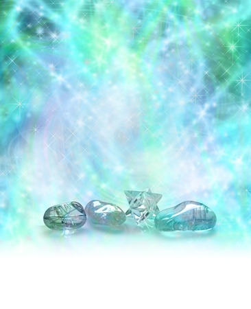 Cosmic Healing Crystals Stockfoto - 32522415