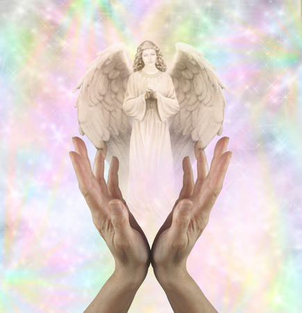 praying angel: Angelic Vision Stock Photo