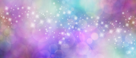 energy healing: Beautiful multicolored bokeh sparkly website header