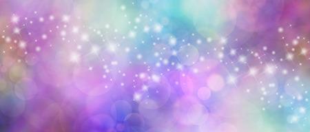 Prachtige veelkleurige bokeh sparkly website header