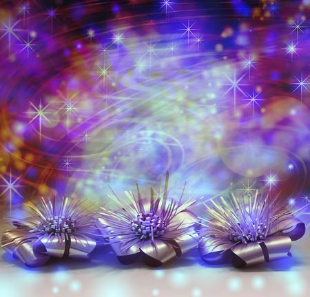 decs: Multicolored bright fun Christmas decoration background Stock Photo