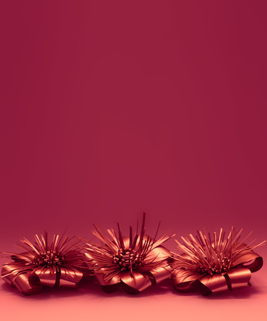 Warm Red Christmas Decorations Background Stock Photo