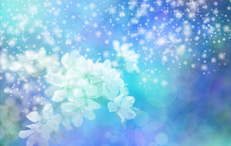Sparkling Blue Blossom Wedding Banner photo