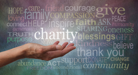 needy: Give to Charity Banner
