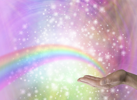 channeling: Rainbow Healer Stock Photo