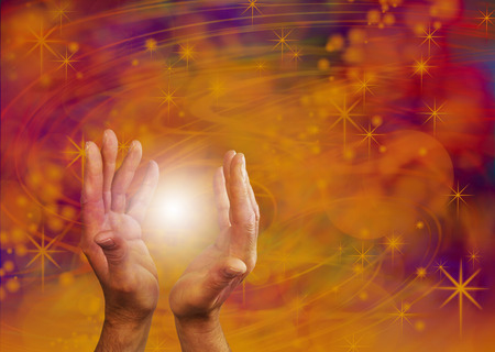 universal healer: Supernatural Orb Energy Stock Photo