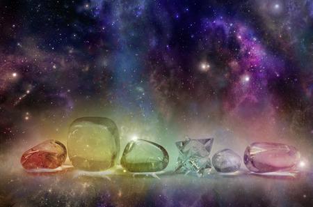 astrologie: Kosmische heilende Kristalle