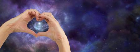 spiritual bless: Heart hands loving the Universe