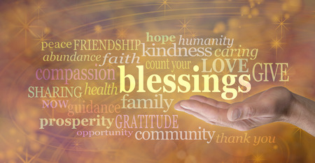 blessings: Count Your Blessings Golden Banner