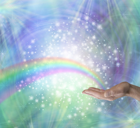 color healing: Sending Rainbow Healing Energy