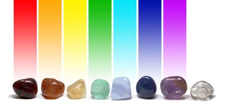 Chakra Healing Crystals Color Chart photo