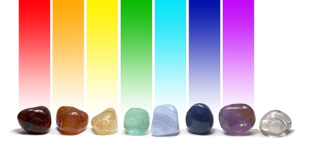 color healing: Chakra Healing Crystals Color Chart