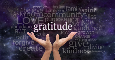 spiritual background: Infinite Gratitude