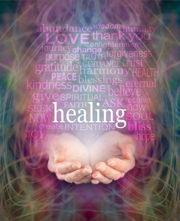 energy healing: Ricezione Healing Archivio Fotografico