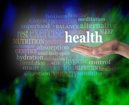 holistic health: Health in the palm of your hand Stock Photo