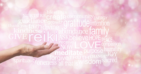 love words: Reiki in the palm of your hand