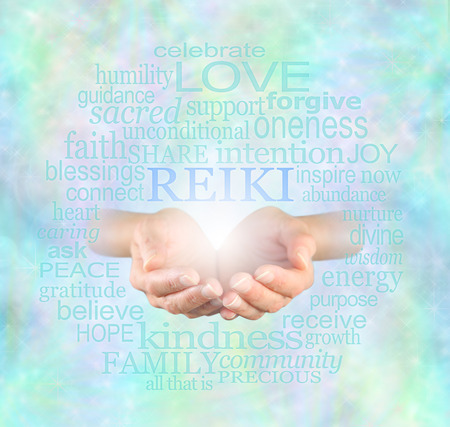 alternative healing: Reiki Share Stock Photo
