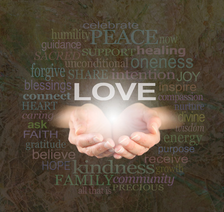 spiritual energy: Sharing Love with You Stock Photo