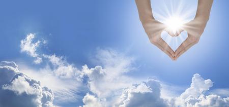 Sun Lover Blue Sky Banner Фото со стока - 35953810