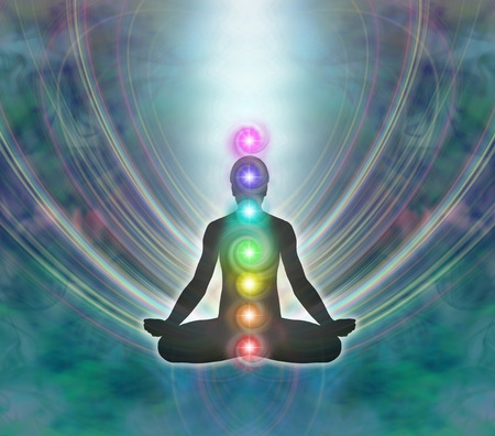 healing with chi: Kundalini Meditation Stock Photo