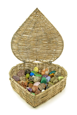 tumbled stones: Healing crystals Stock Photo
