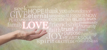 charitable: Sharing Love with You Stock Photo