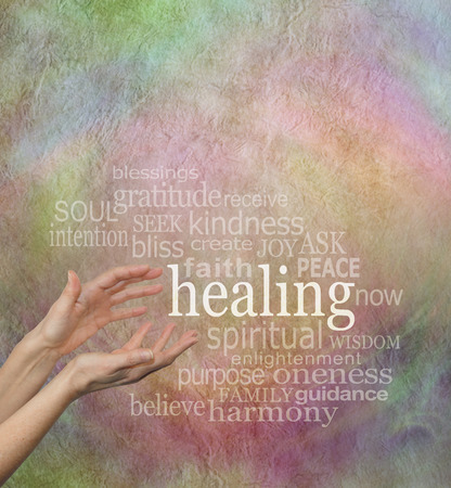 complementary therapy: Beautiful Healing Words Stock Photo