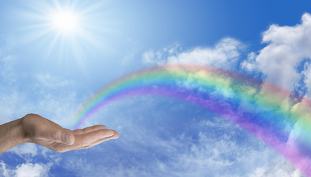 free backgrounds: Sending Rainbow Healing Energy
