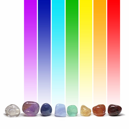 tumbled stones: Chakra healing crystals and their colors