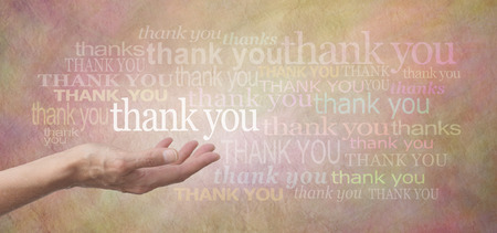 thanking: Thank you SO much Stock Photo