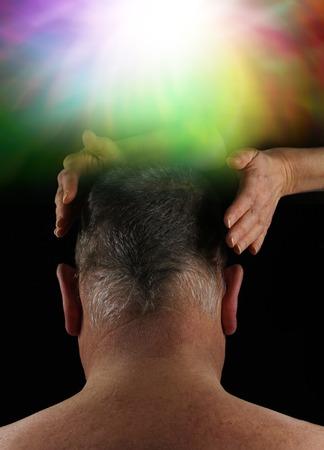crown chakra: Healer working with Crown Aura Energy