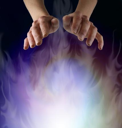 universal enlightenment: Spirit Matter Stock Photo