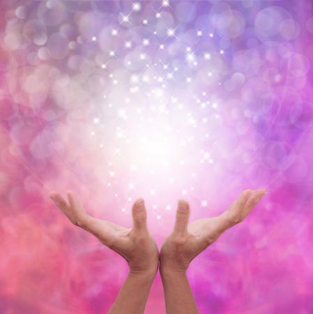 天使のようなピンクの癒しのエネルギー