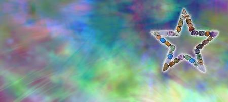 spirit new age: Crystal Star Healing Website Banner Stock Photo