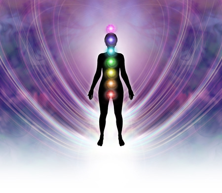 universal healer: Chakra Energy Field Stock Photo